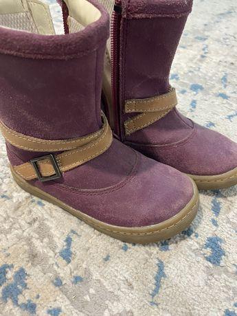 Сапоги бренда Clarks полностью кожаные 23 размер осень
