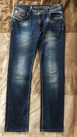 Мъжки дънки Philipp Plein, Regular Fit, памук и еластан