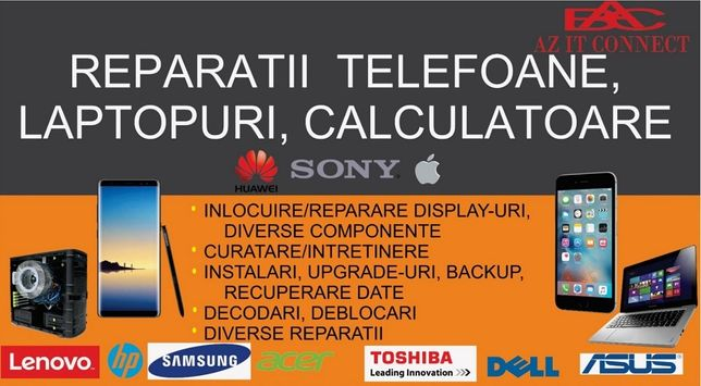 Reparatii calculatoare, laptopuri, tablete