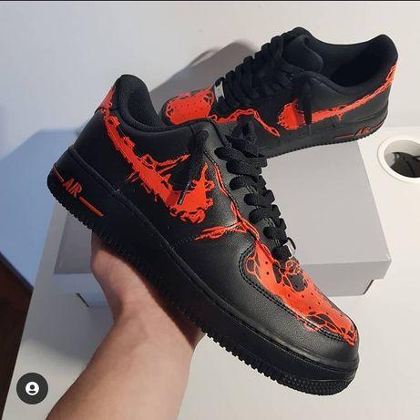 "Nike air force1 ,,lava"" custom"