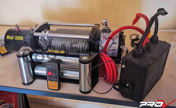 Електрическа лебедка за пърна помощ с дистанционно