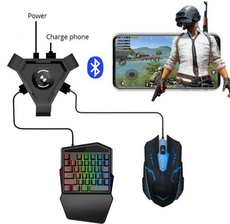 Клавиатура и мышь для игр на Телефоне PUBG
