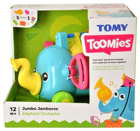 Jucarie elefantelul muzical morchestra TOMY T72377 compus din 7 instru