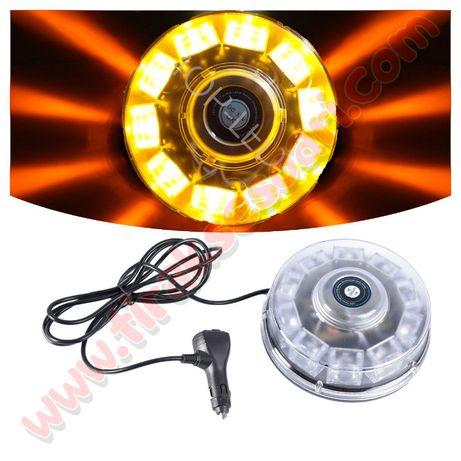 12-24V LED Авариен буркан на магнит, диоден авариен буркан на магнит.