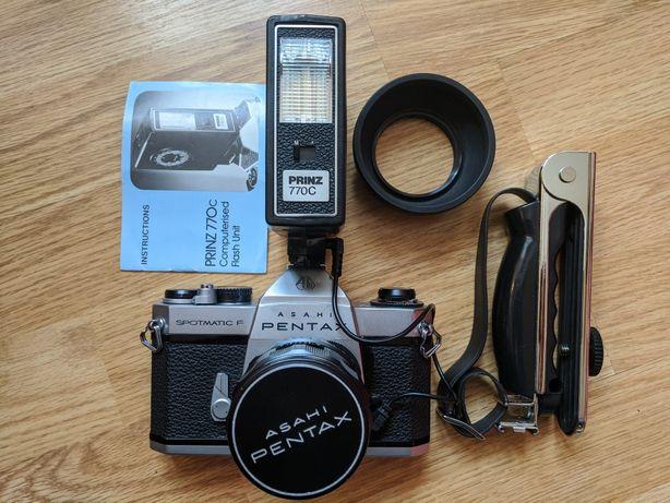 Pentax SpotmaticF Takumar 55 f2/ vivitar 70-150mm macro/ 28mm f2.8 M42