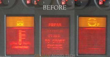Ремонт дисплей табло Audi A4 A6 A8 Vw Passat