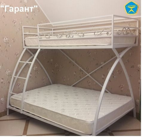 Прочная и устойчивая двухъярусная кровать для взрослых (двухярусная)