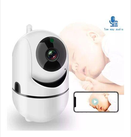Wifi камера,  Бебефон Robicam, наблюдение през телефона, 360 градуса
