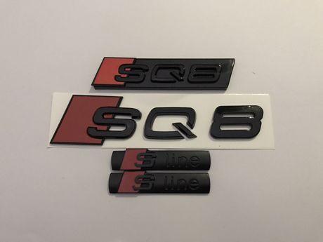 Set Embleme Audi Sq 8 NEGRU