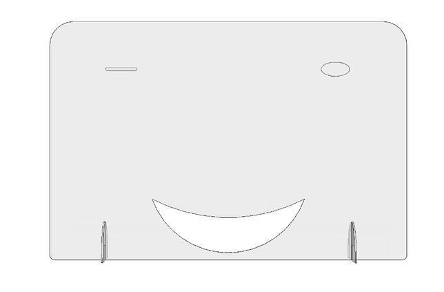 Panou / Paravan protectie plexiglas Smile