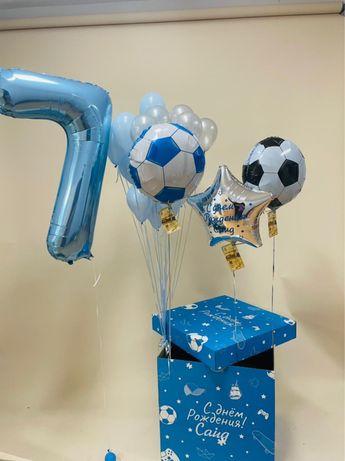 Коробка большая сюрприз с шарами доставка Астана