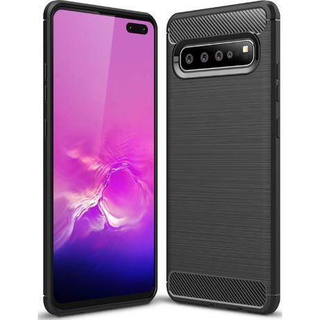 Husa Gel Carbon GALAXY S10 Plus Note 10 S10e Note 8 9 iPhone XR XS Max