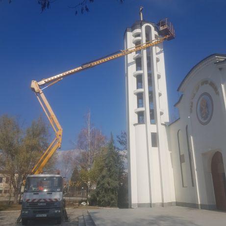 Автовишка 25 метра под наем за Пловдив и региона вишка АЛЕГРЕТРАНС