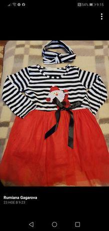 Коледна рокличка 92 см