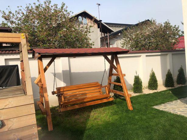 Leagan din lemn pentru grădina balansoar