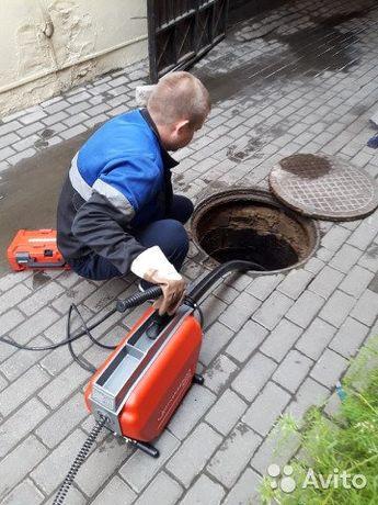 Прочистка канализации с Гарантией. Дёшево. Немецким аппаратом КРОТ