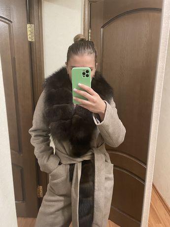 Пальто с куницей