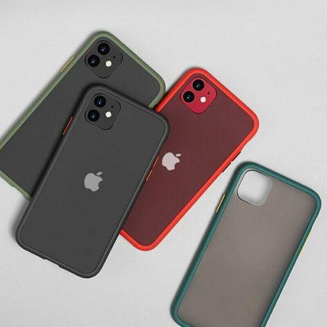 Силиконов Кейс твърд гръб iPhone 11, 11 Pro, 11 Pro Max, X, XS, XS Max