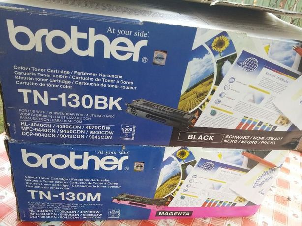 Cartus toner original Brother TN-130BK & TN-130M