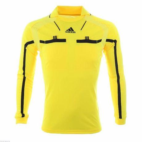 Адидас жълто черна фанела дълък ръкав Size: XL нова опаковка с етикет