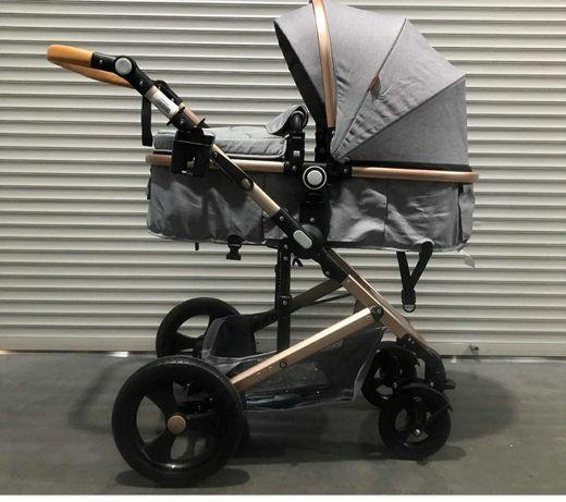 Продам коляску Belecoo серого цвета
