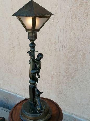 Lampa veche de bronz 47 cm