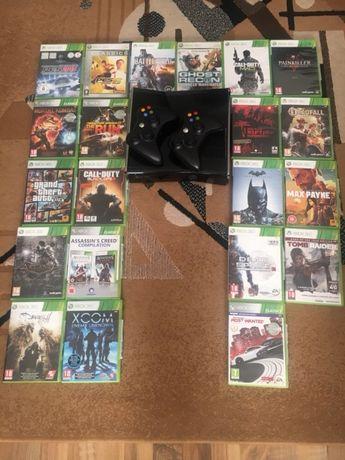 Xbox360 slim cu 21 jocuri