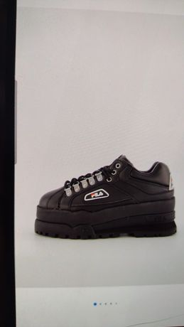 Fila, Pantofi sport flatform Trailblazer, Negru, 9