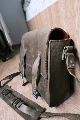 geanta piele handmade pentru laptop documente