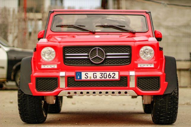 Masinuta electrica pentru 2 copii Mercedes G650 MAYBACH 4WD #Rosu