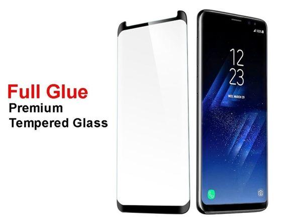Стъклен протектор за Samsung Galaxy S9 Plus S9+ G965FD лепило по цялат