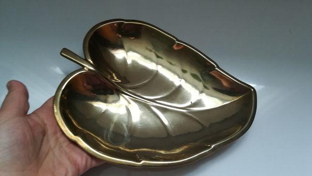 Tava fructiera bronz decor frunză casa depozitare bijuterii
