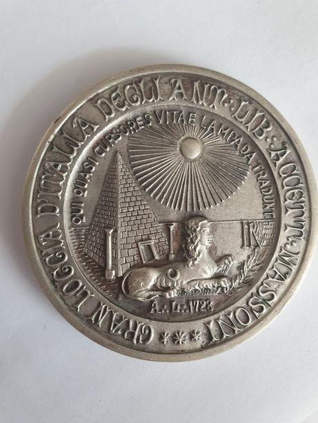 Medalie veche masonica din argint