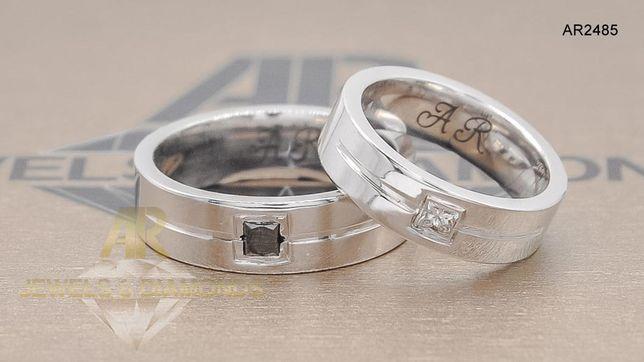 Verighete Aur Alb cu Diamante modele deosebite ARJEWELS