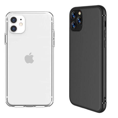 Husa Silicon Ultra Slim Clara / Neagra - Iphone 11 12 MINI PRO MAX
