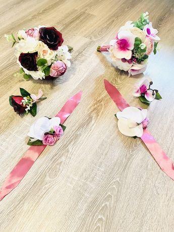 Buchete mireasa sau nasa din flori de mătase