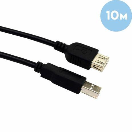 """Кабель USB AM - USB AF удлинитель, """"LAN"""", Black, 10м новый в упаковке."""