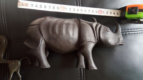 УНИКАТ. Статуетка Носорог.Дървена,ръчна изработка.
