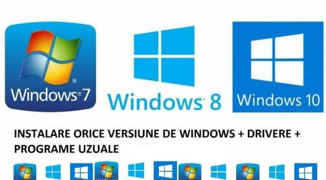 Instalare Windows 10,7,8,xp sp3,Programe,Office,Antivirus.