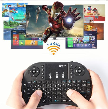 Tastatura Wireless Air Mouse Touchpad pentru Android TV