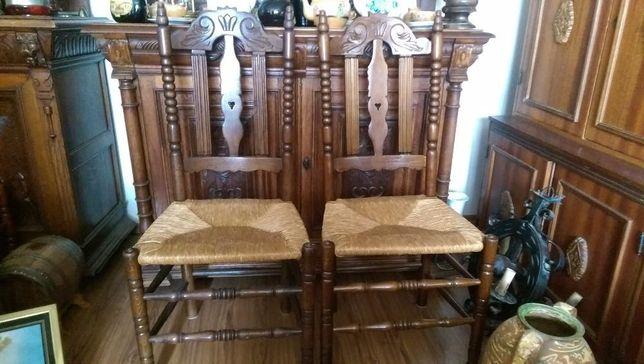 scaune lemn masiv