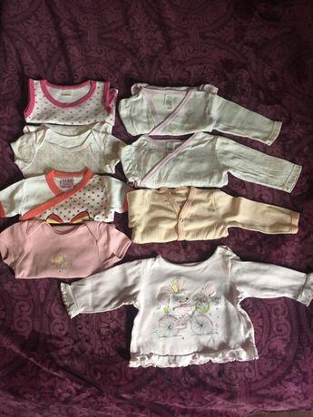Лот бебешки дрешки 3-6м, бодита с къс и дълъг ръкав