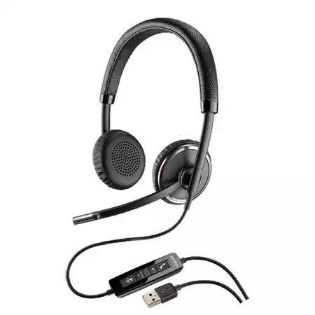 Casca Call Center Plantronics BLACKWIRE C520-M, USB, Microsoft Certifi