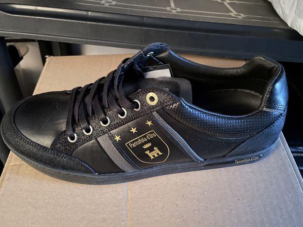 Pantofi piele barbati PANTOFOLA D ORO mondovi low marime 41,negru