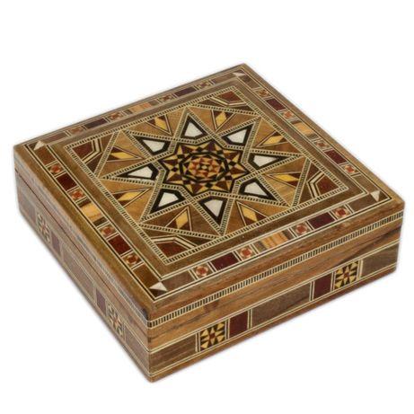 Cutie de bijuterii din Lemn masiv si sidef 2523.1! Un CADOU util