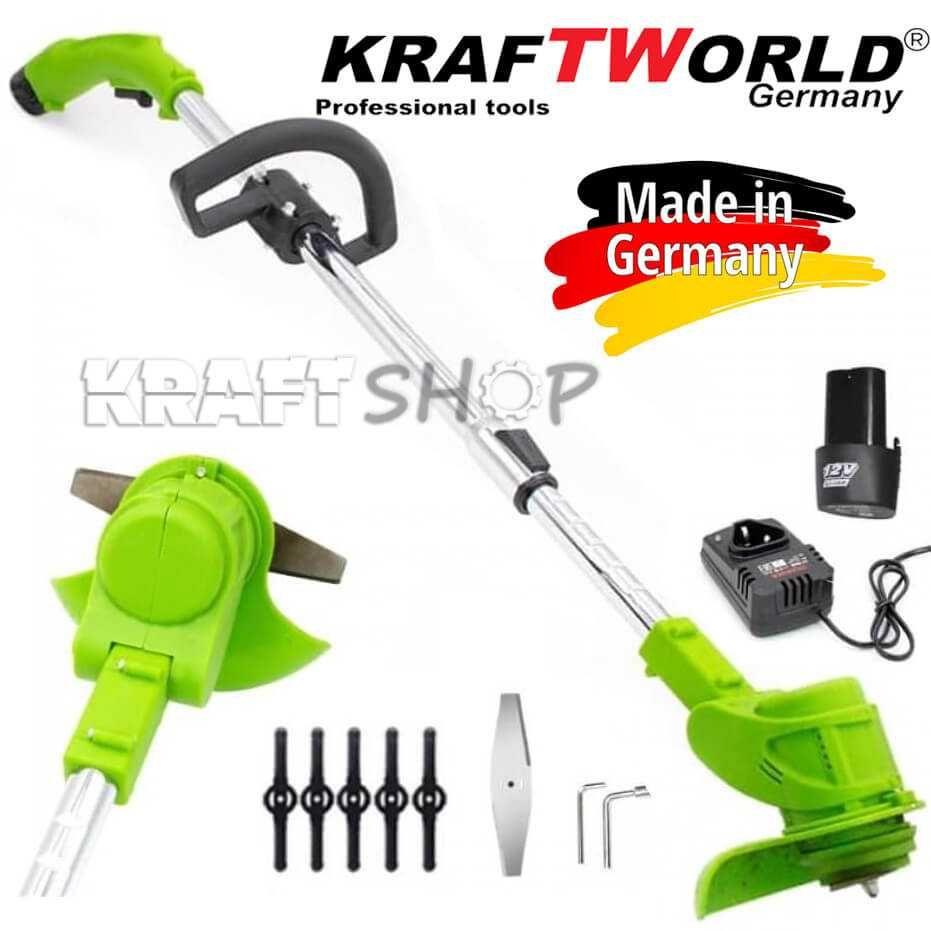 Акумулаторен Градински Тример KraftWorld 12V 3AH