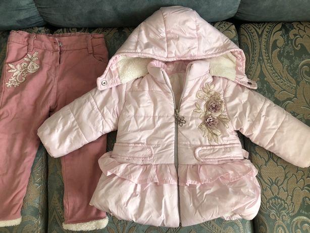 Продам детский комплект куртка плюс штанишки на весну и осень