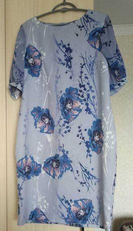 Платье шелковое на 52 размер