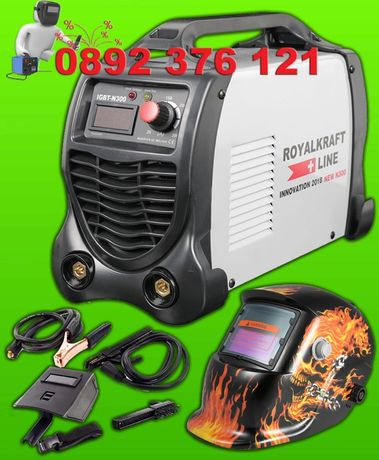 Немски електрожен - инвертор IGBT KrafT 300 + Маска за заваряне 04