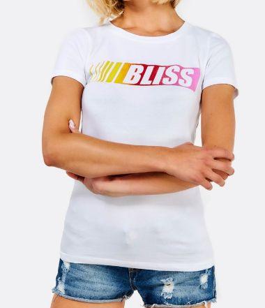 Дамска бяла тениска на надпис